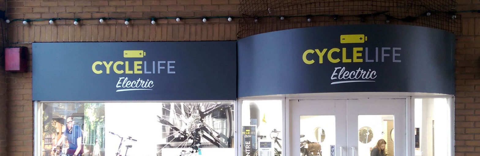 our products cycle life shop signs