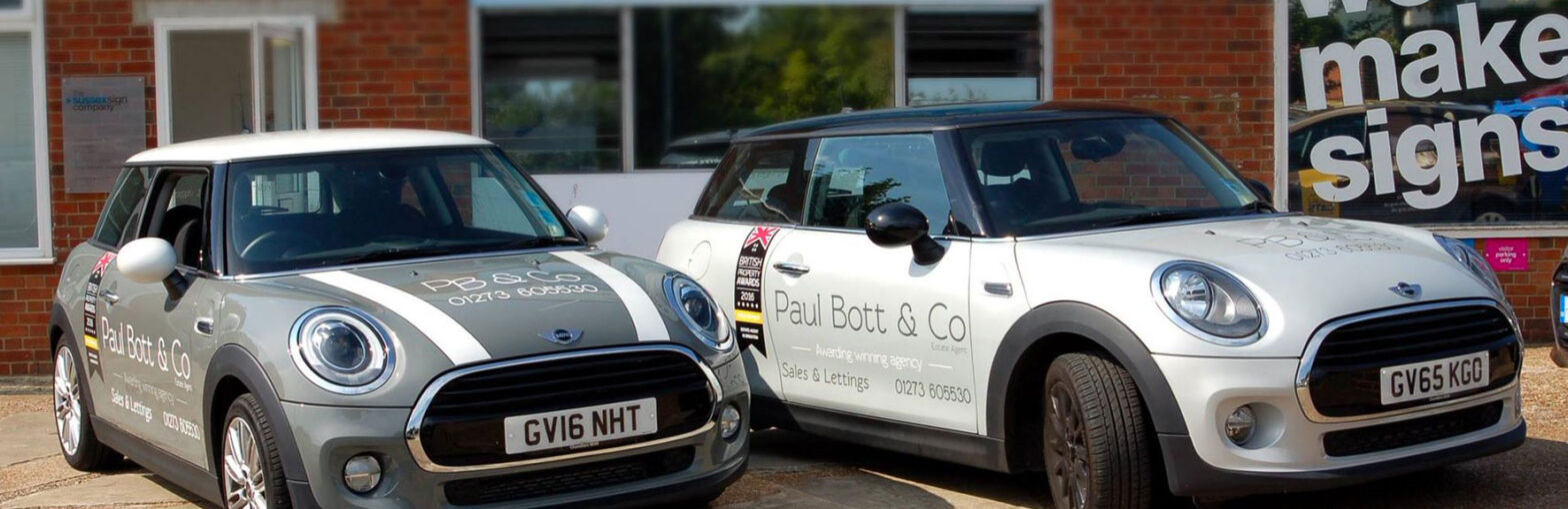 Vehicle graphics for estate agents