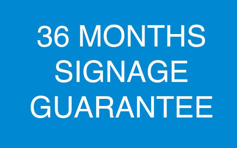 signage guarantee