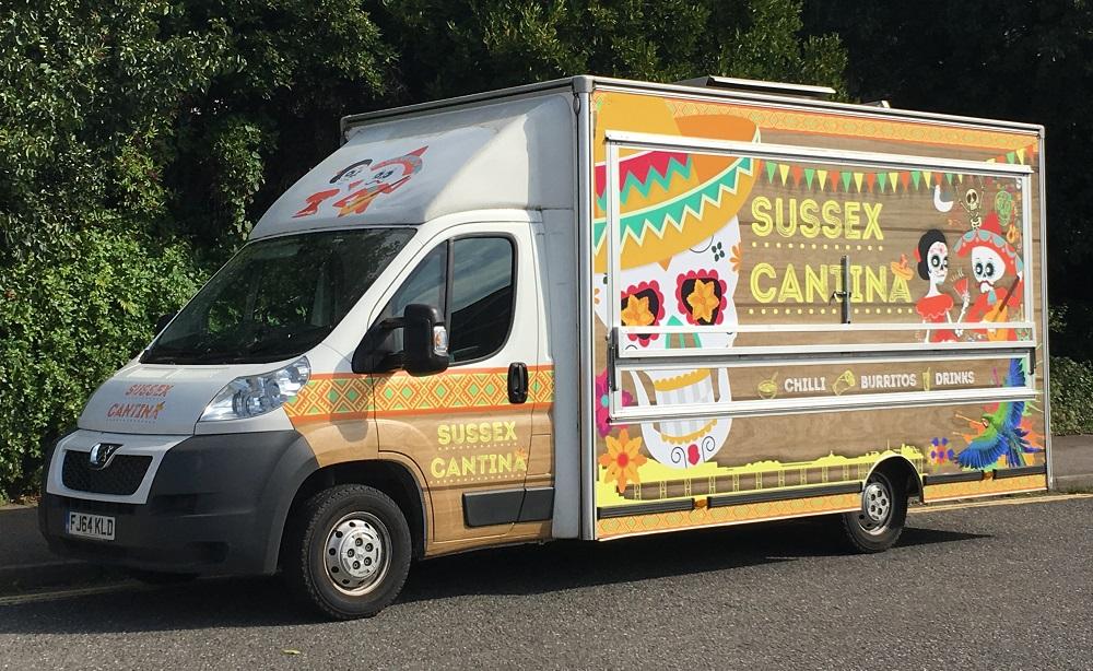 university of Sussex Cantina van wrap