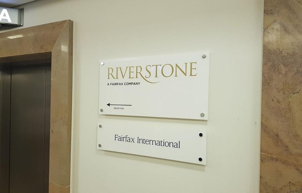 Riverside internal directional signage