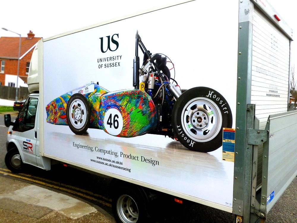 Vehicle graphics University of Sussex van