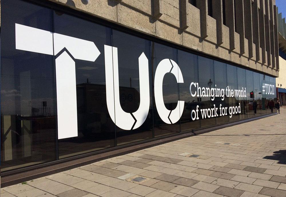 Brighton Centre Conference signs TUC