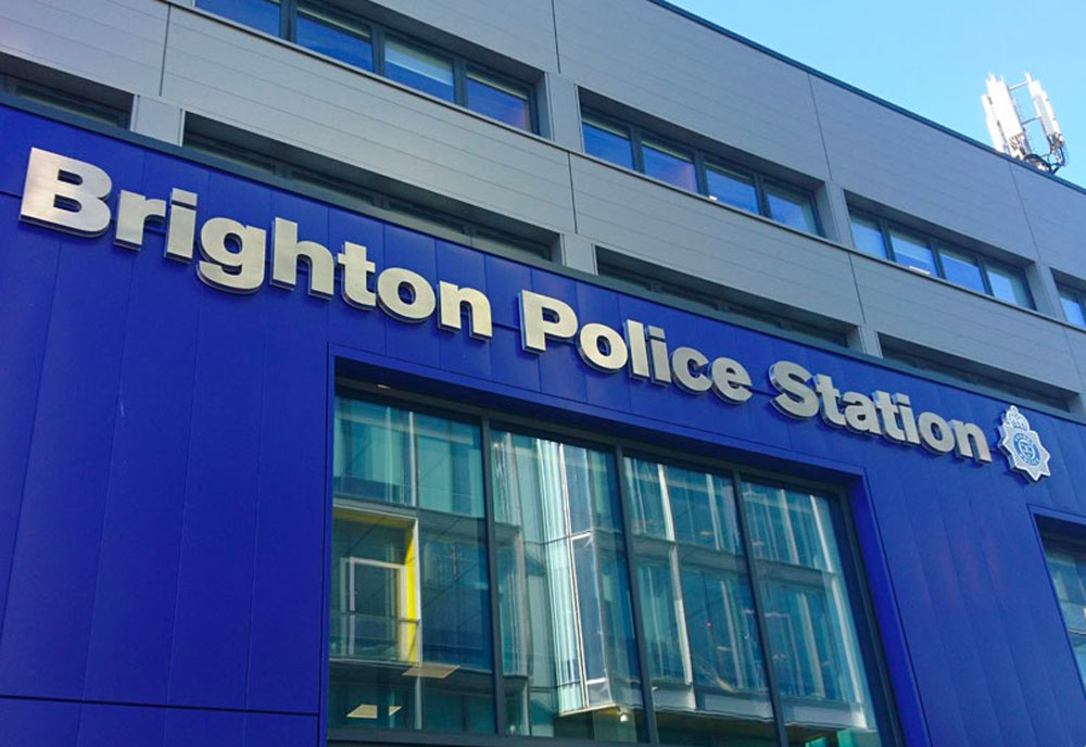 Signs for Sussex Police Station