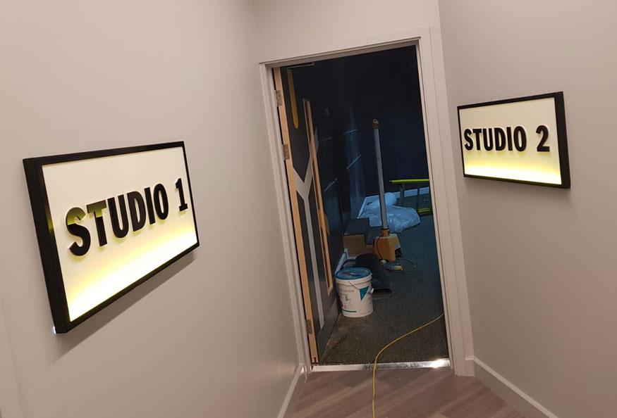 First Light Studio signs