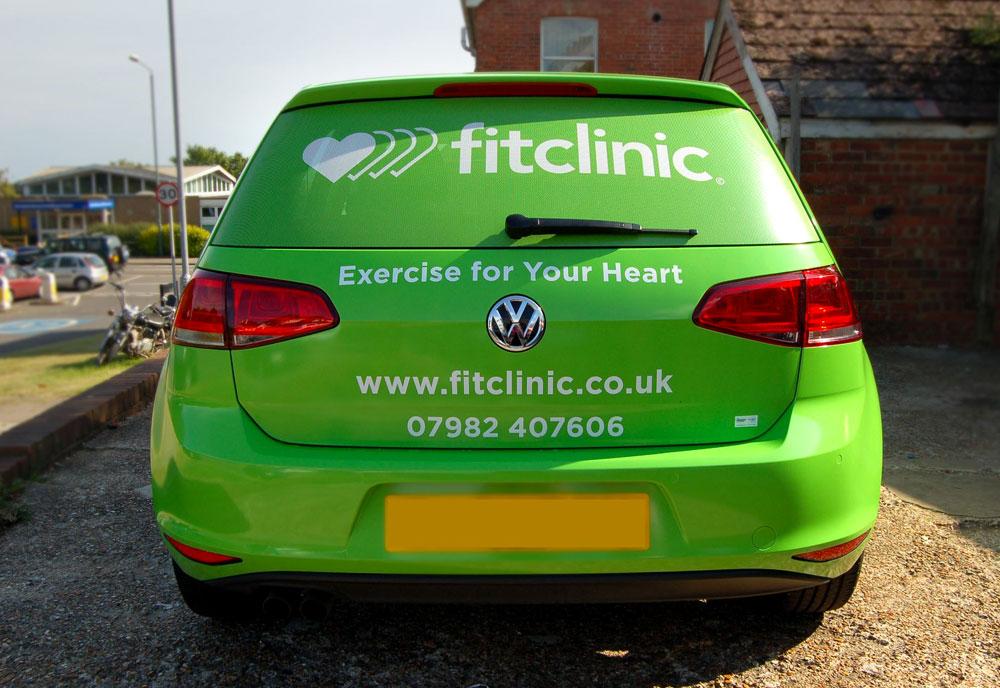 Fit clinic car wrap rear