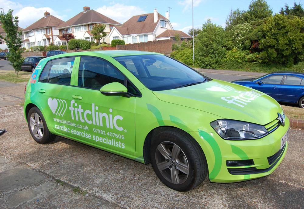 Fit Clinic car wrap side view