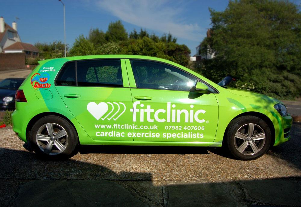 Fit Clinic car wrap