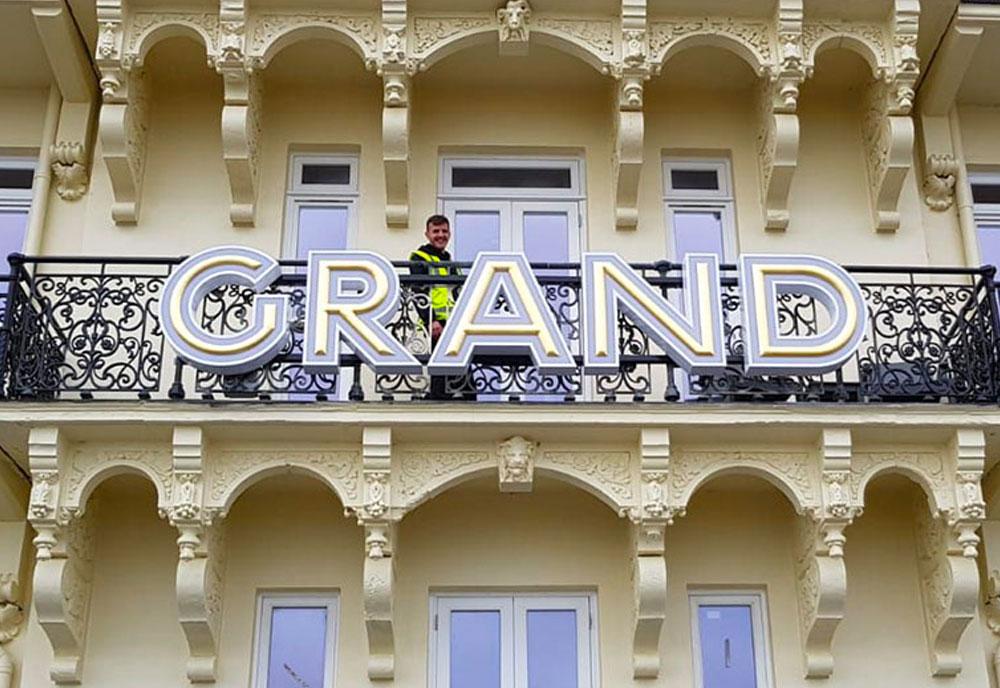 Grand Hotel fascia sign