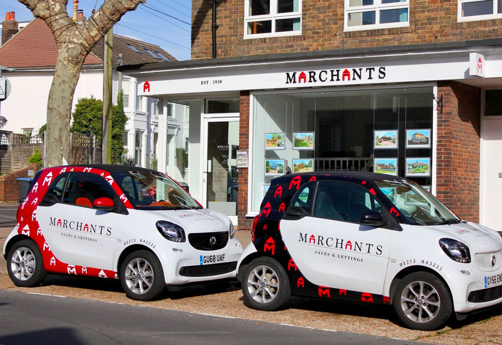 Marchants Estate Agents signage