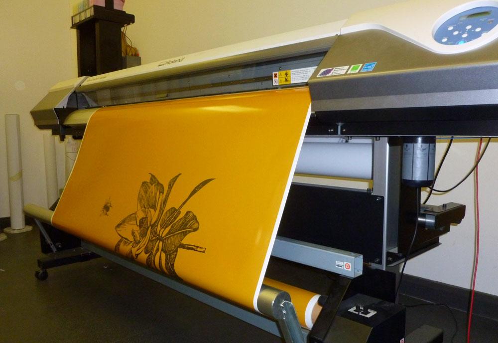printing Miss Mole van wrap