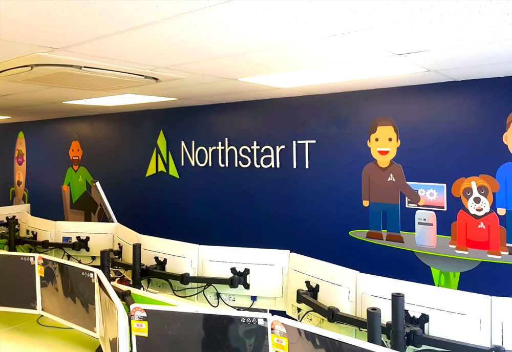 Northstar IT wall graphics