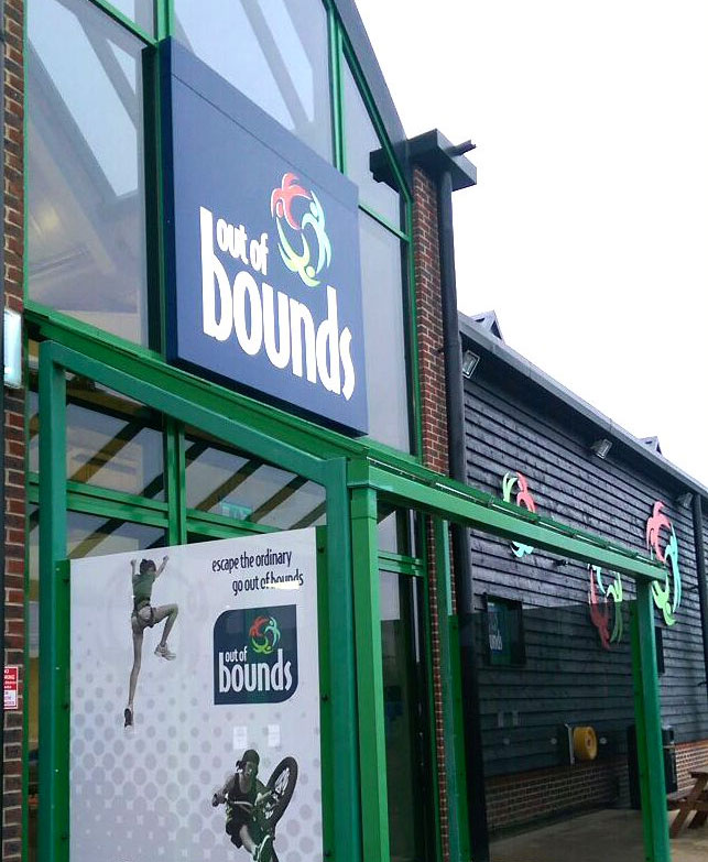 Out of Bounds Business Sign