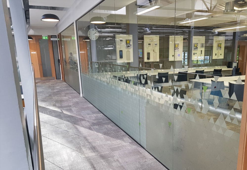 Paxton Access office window graphics