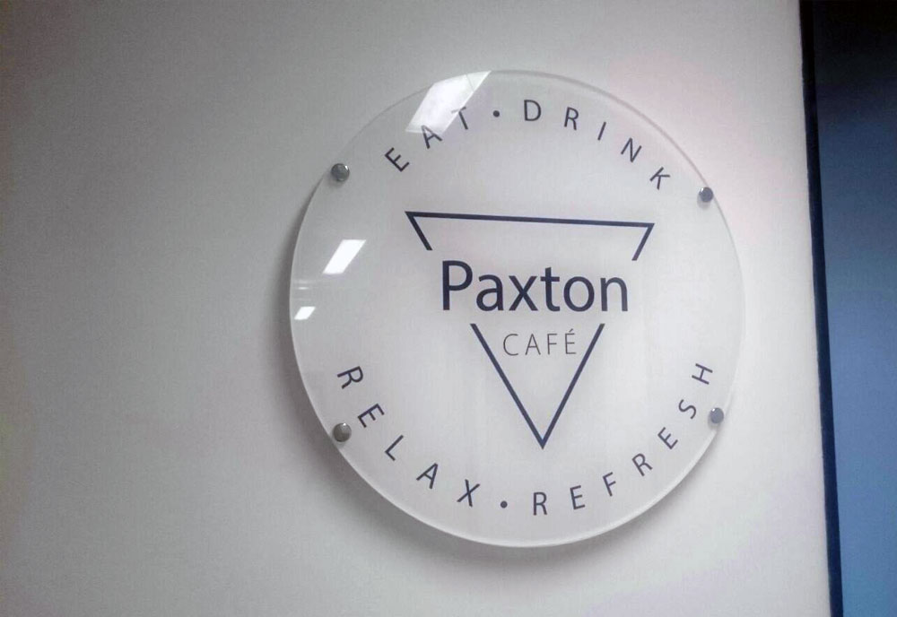 Paxton Access circular sign