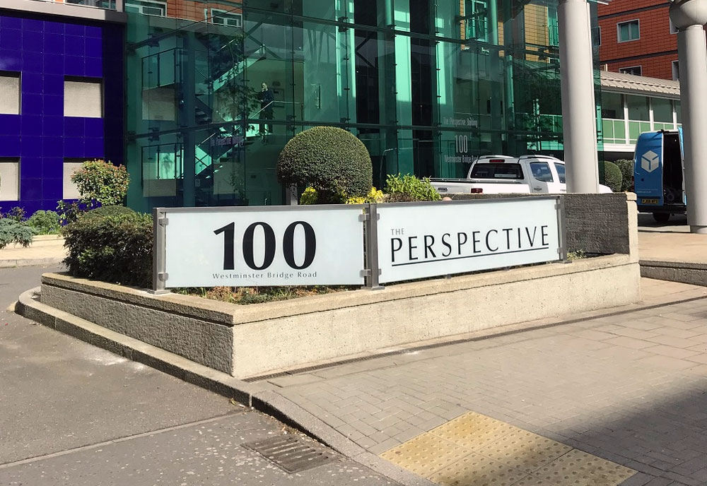 The Perspective Building sign Westminster