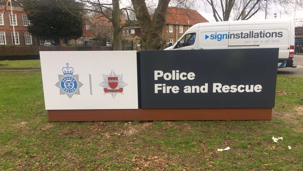 Police Fire and Rescue signage