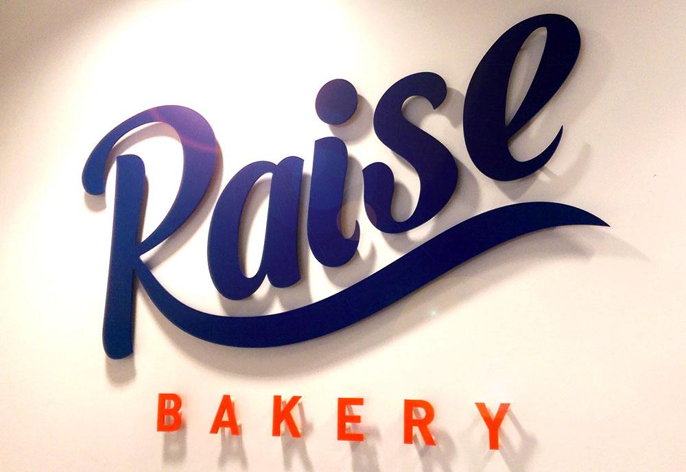 Raise Bakery sign