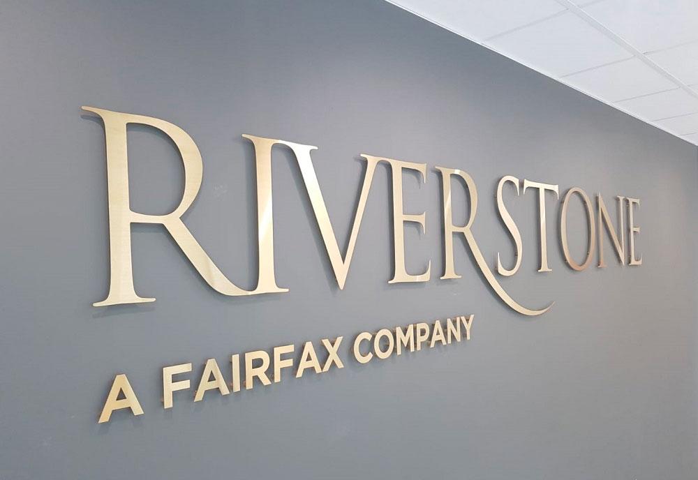 Riverstone reception sign