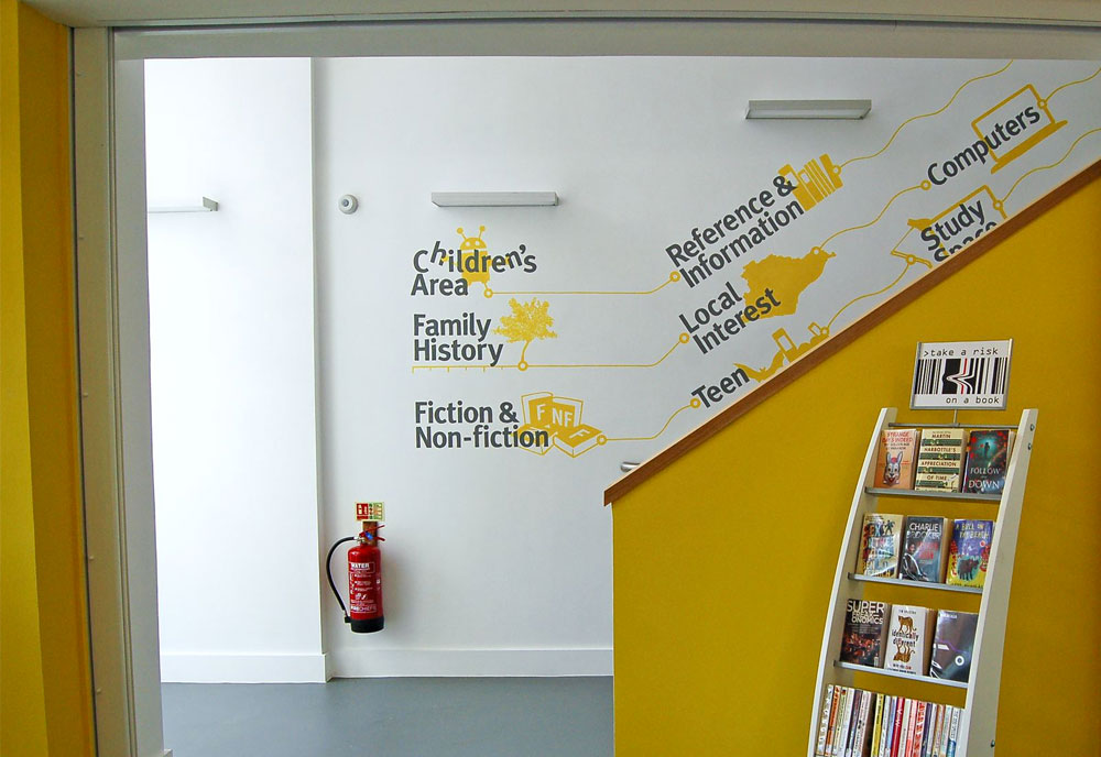Seaford Library directional signs