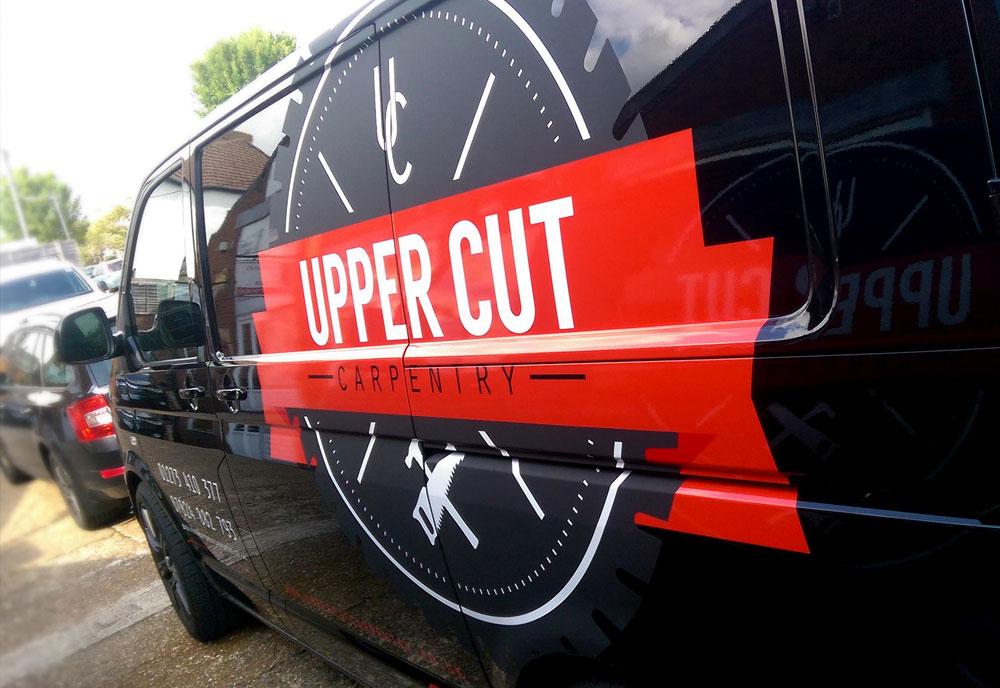 Upper Cut Carpentry van wrap