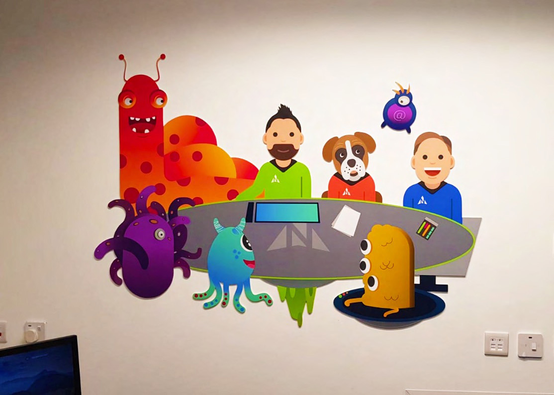 Wall graphic illustration for Northstar IT
